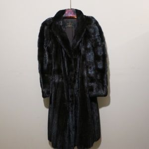Late 40's-Early 50's Vintage Full Lgh Mink Coat S